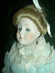 Elegant Bisque, Gibson Girl, Doll W/pierced Ears By Ufdc Artist Rosemary Brouse