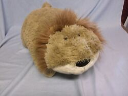 ORIGINAL PILLOW PETS LARGE LION 22quot; PLUSH STUFFED BED BUDDY TOY GUC