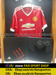 Box Manchester United Adidas 2015 2016 Home Schmeichel Signed Red Shirt Jersey