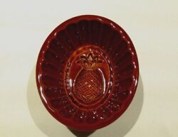 Pineapple Mold Brown Ceramic Cranberry Jelly Mold 16 Oz