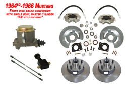 1964-66 Ford Mustang Front Drum To Disc Brake Conversion Kit W/master -11 Rotor