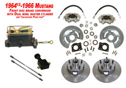 1964-66 Ford Mustang Front Drum To Disc Brake Conversion Kit W/ Dual Master