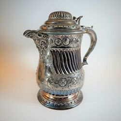 Victorian Martin Hall And Co Silver Plated Flagon Tankard Jug Bacchus Spout 1860