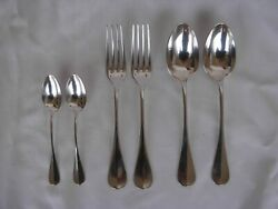 Antique French Sterling Silver Flatware Setfor 2middle 19th Century.