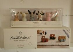 Hearth And Hand With Magnolia Wooden Kids Car Set And Farm Animal Figurine Set