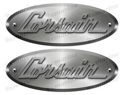 Corsair 50s Oval Remastered Stickers. Brushed Metal Style - 10x4