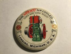 1900s The New-way Air Cooled Combustion Engine Advertising Mirror Lansing Mi