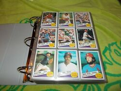 19841985 Topps Baseball Card Collectionover 1500 Cardsall In Binderssleeves