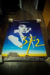 Betty Blue 4x6 Ft French Grande Rolled Vintage Movie Poster Original 1986