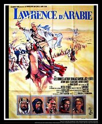Lawrence Of Arabia C 4x6 Ft Vintage French Grande Original Movie Poster 1962