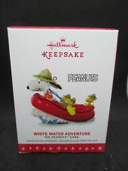 2016 Hallmark Peanuts Beagle Scouts Gang White Water Adventure Snoopy