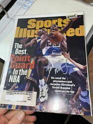 Terrell Brandon Signed Sports Illustrated Mag Cover Only W/ Label 2/20/97 - 2925