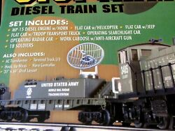 K-line U.s. Army Train Set In Sealed Shipping Carton From The 90's-very Nice Set