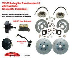 1967-68-69 Ford Mustang Front Drum To Power Disc Brake Conv Kit 11 Xd Rotors