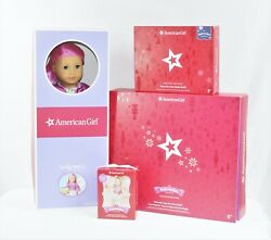 American Girl Nutcracker Sugar Plum Fairy And Snow Queen Outfits W/87 Doll And Orna