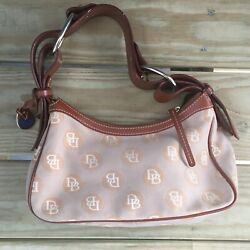 Dooney Bourke Leather Canvas Hobo Small Handbag $15.00