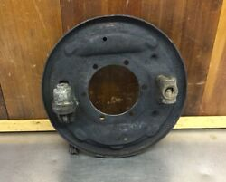 Triumph Tr6 Tr250 Tr4a • Left Rear Brake Backing Plate. Used. T1901