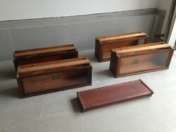 Antique 4-stack Globe Wernicke Oak Barrister Lawyers Bookcase - 5 Pieces 1