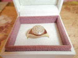 Genuine Pandora 18ct Gold And Diamond Pave Love Pod Ring 970112d Size 60 Rrp £1350
