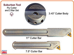 Suburban Tool Fly Cutter And 2 Bar Set For Bridgeport Mill Cnc Mill Boring Mill
