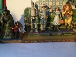 Jim Shore Heartwood Creek Wizard Of Oz Themed Set Of 5 Figurines And Display