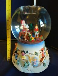 Partylite Santa At His Shop Musical Tealight Snow Globe Retired P8202 Works