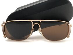 New Vintage Issey Miyake Im102 Gold Matte Hinged Sunglasses 1985 Made In Japan