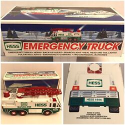 Hess Toy 1996 Emergency Truck Gas Station Collectible Boxed Exc W/ Tray D