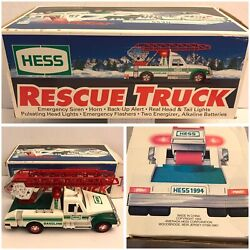 Hess Toy 1994 Rescue Truck Gas Station Collectible Ladder Boxed Used E