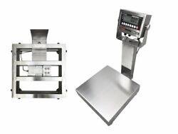 """Ntep 18""""x18"""" Legal Trade Stainless Steel Washdown Bench Scale 400 Lb X 0.05 Lb"""