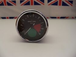 R15 - Genuine Smiths Large Green Spot Rev Counter/tacho Tachometer - Recondition