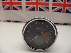 R24 - Genuine Smiths Large Green Spot Rev Counter/tacho Tachometer - Recondition