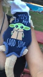 BABY YODA PRINTS 4 XLRG SLEEVELESS BODY HOODY HANDMADE SHIRT 4 BEARDED DRAGON