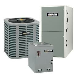 Oxbox - 4 Ton Cooling - 108k Btu/hr Heating - Air Conditioner + Single Speed ...
