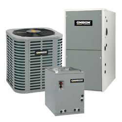 Oxbox - 1.5 Ton Cooling - 38k Btu/hr Heating - Air Conditioner + Single Speed...