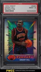 1994 Finest Refractor Grant Hill Rookie Rc 240 Psa 9 Mint