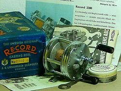 1953 Abu Record 2300c Centrifugal Brake Casting Reel-used/box/excellent+