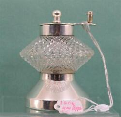 Victorian Aesthetic Style Glass Pepper Grinder Sterling Silver Mount Jth And Jhm 2