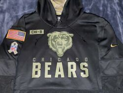 Authentic Chicago Bears Salute To Service Military Nike Sideline Hoodie