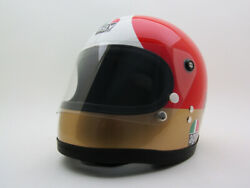 Vintage Agv Agostini Motorcycle Helmet Ago Gp Rider Racing Isle Of Man Tt Bike