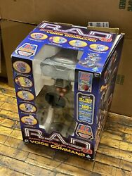 Vintage 2001 Toymax R.a.d. 4.0 Radio Controlled Robot With Voice Command 80888