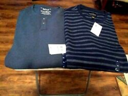 Lucky Brand L/s Henley And Thermal Tees For Men - Sz 2xl