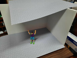 Block Photo Sheets 1/24 Scale Action Figure Garage Diorama Dollhouse Accessories