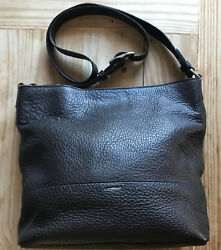 USA * Shinola Ladies Small Relaxed Hobo Cross Body in Deep Brown Leather $275.00