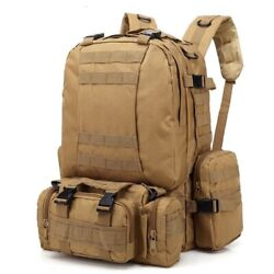 55l Backpack Large Tactical Outdoor Molle Assault Camouflage Rucksacks Camping