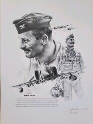 Robin Olds-john Shaw And Bookplate Signed By Olds, Bud Anderson,don Blakeslee