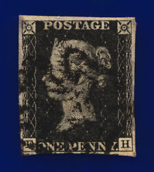 1840 Sg2 1d Black Plate 9 As56 Fh Black Mx Fine Used Cat Andpound625 Dcuc
