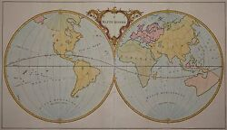 Ie Mappe-monde - Rare World Map Of Jean Palairet 1755