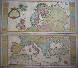 A New And Accurate Map Of Europe - Kitchin / De Vaugondy 1772 - Rare, Large Map