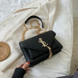 Luxury Leather Handbags Fashion Women Shoulder For For Daily Use Bag Lock Black $38.99